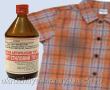 вывести масляное пятно с одежды