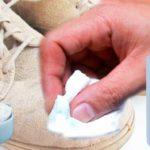 как почистить светлую замшу в домашних условиях